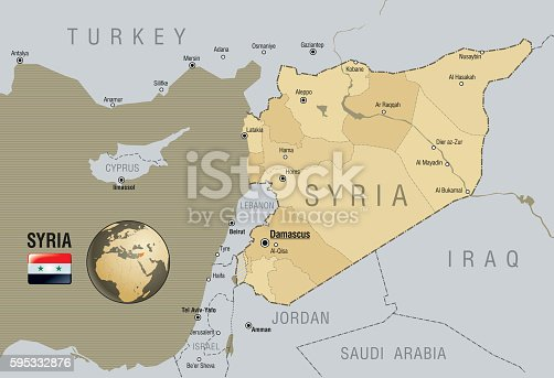 istock Map of Syria 595332876