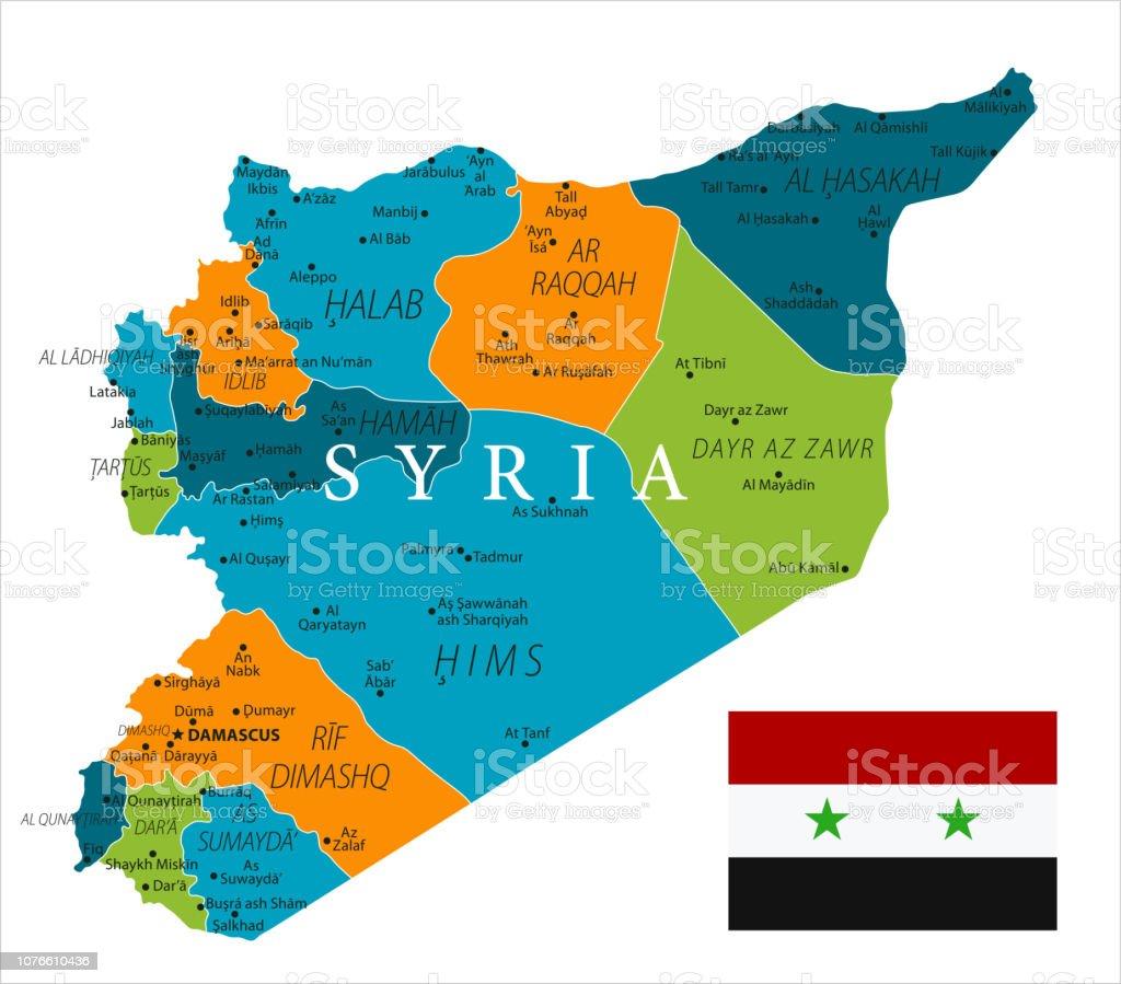Karte Syrien.Karte Von Syrien Vektor Stock Vektor Art Und Mehr Bilder Von Aleppo