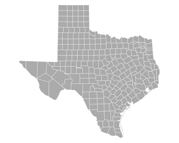 ilustraciones, imágenes clip art, dibujos animados e iconos de stock de mapa de texas - zona urbana