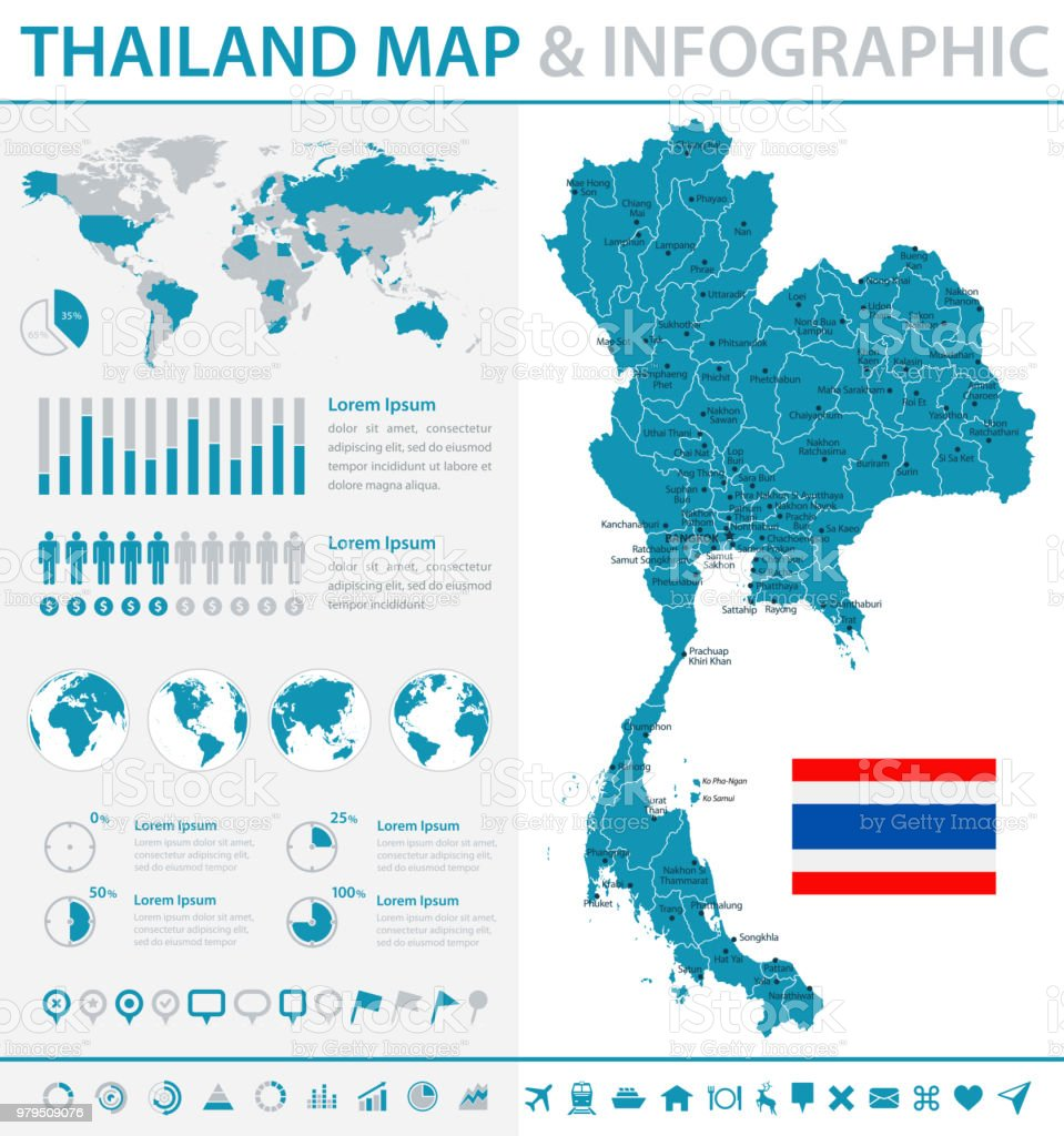 Map Of Thailand Infographic Vector Stock Illustration ...