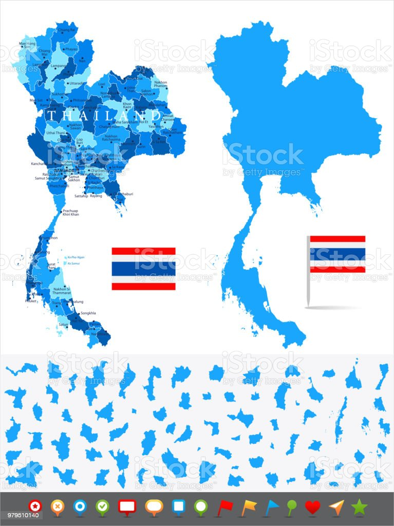 Map Of Thailand Infographic Vector Stock Vector Art & More Images of ...