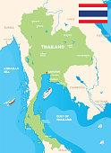 istock Map of Thailand 1307836524