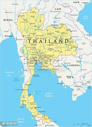 istock Map of Thailand - Vector 977818134
