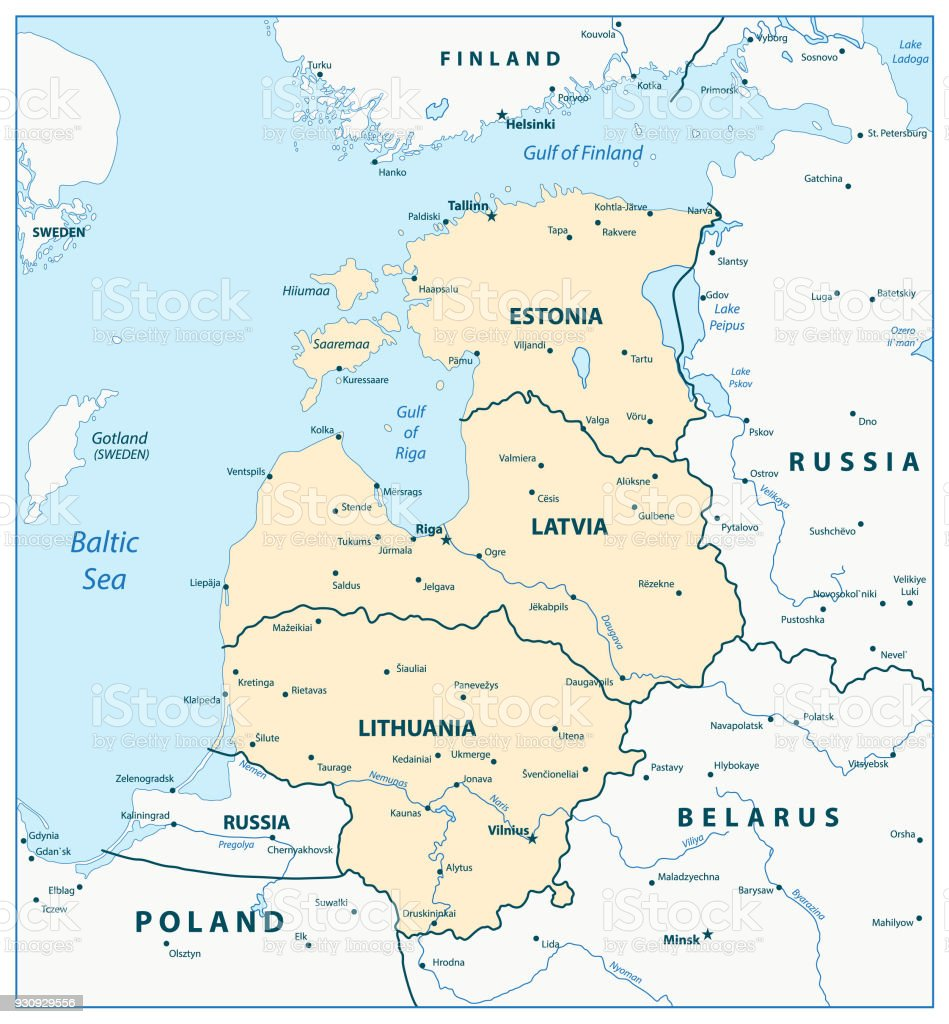 Map Of The Baltic States Stock Vector Art More Images of