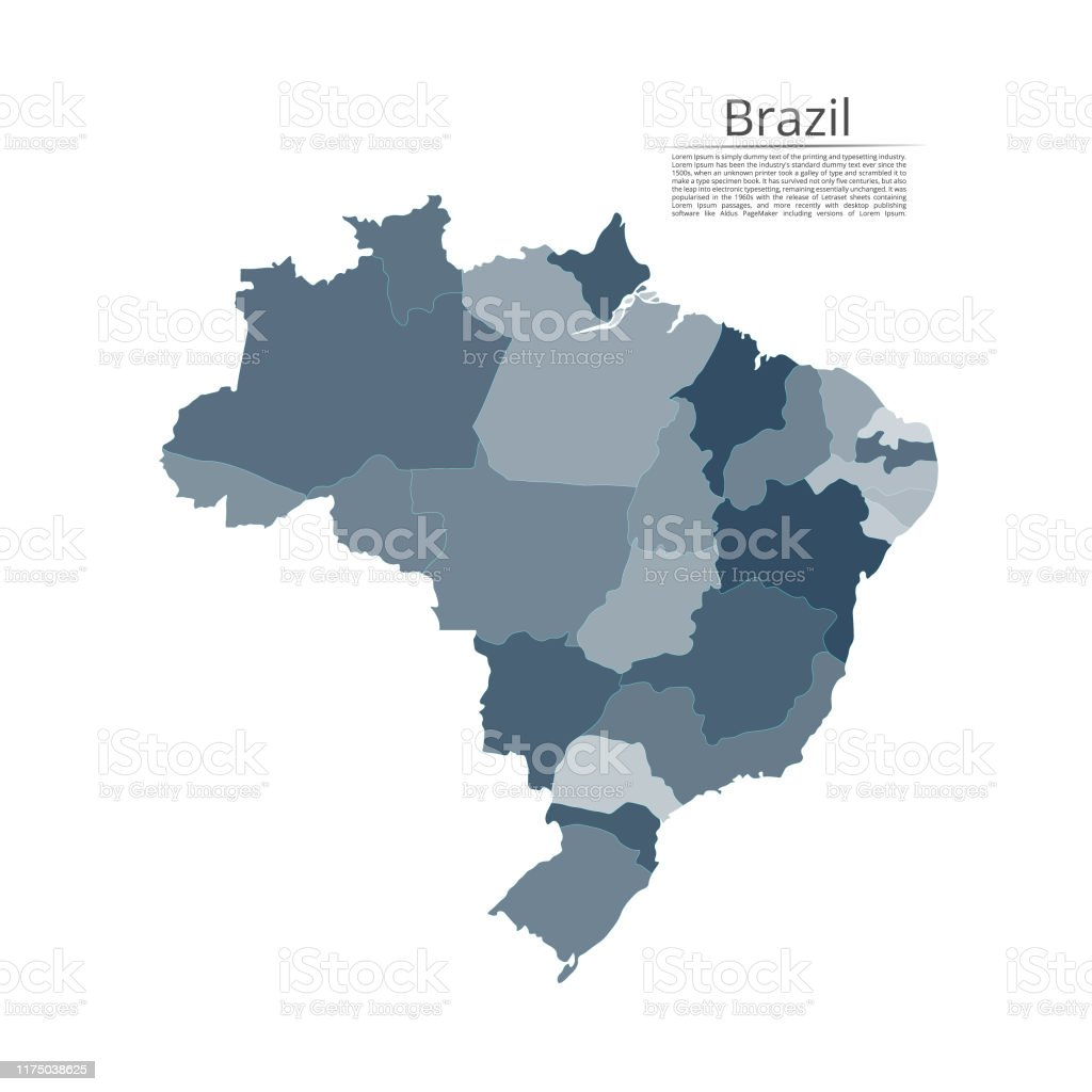 Picture of: Map Of The Brazil Vector Image Of A Global Map In The Form Of Regions In Italy Easy To Edit Stock Illustration Download Image Now Istock