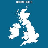 Map of the British Isles - Illustration