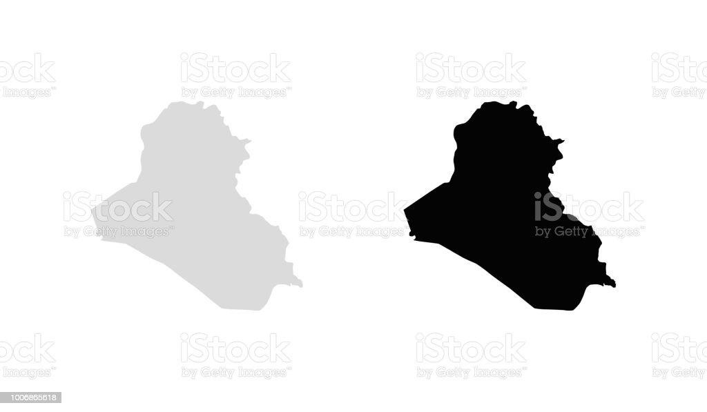 A Map of the country of Iraq vector art illustration