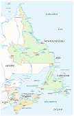 Map of the four canada atlantic provinces