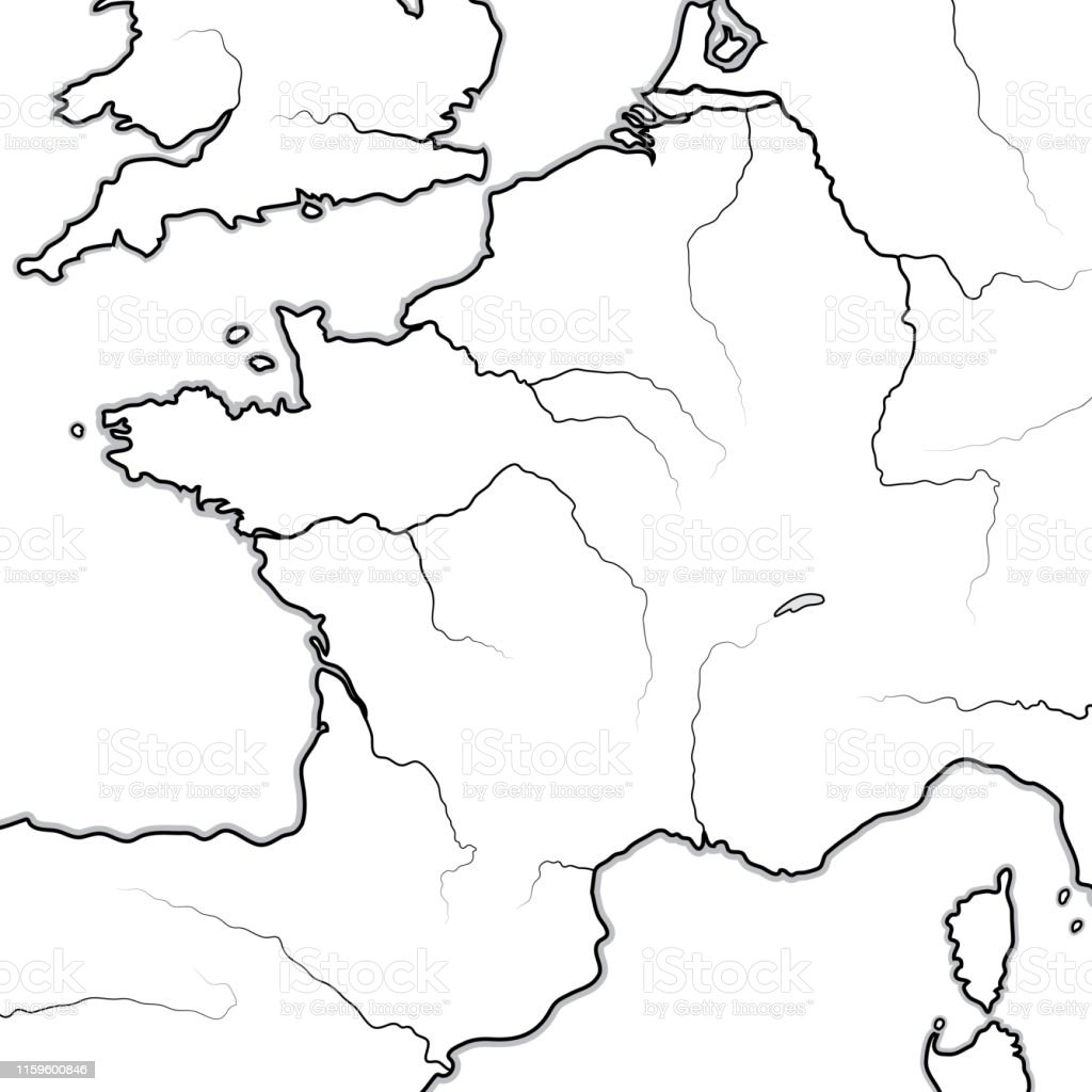 Map Of Rivers In France.Map Of The French Lands France And Its Regions Geographic Chart With