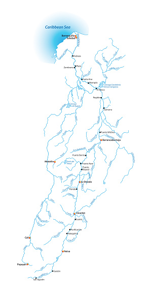 Map Of The Magdalena River Longest River In Colombia Stock ... Magdalena River Map on atlantic ocean map, uruguay map, lake maracaibo map, hispaniola map, buenos aires map, lake titicaca map, isthmus of panama map, strait of magellan map, colombia map, sierra madre occidental map, tierra del fuego map, brazilian highlands map, pampas map, amazon basin map, atacama desert map, sierra madre oriental map, caribbean map, caracas map, andes map, baja california map,