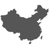 Detailed in high resolution Map Of The People's Republic Of China. Vector illustration.