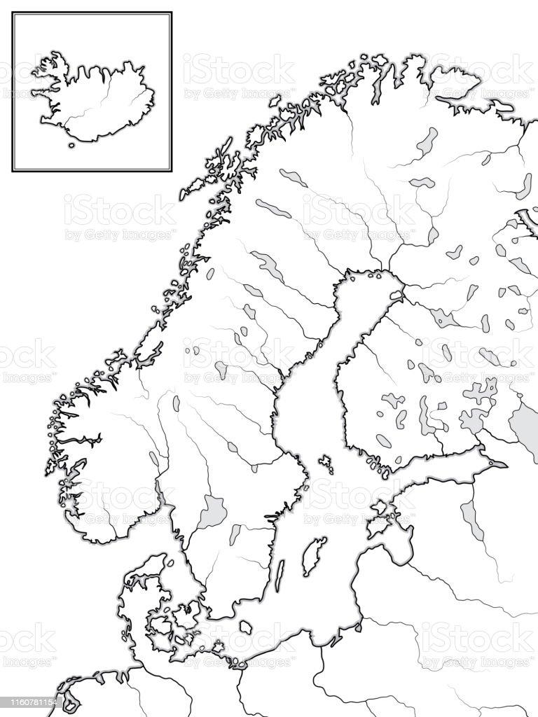 Karte Norwegen Dänemark.Karte Der Skandinavischen Länder Skandinavien Schweden Norwegen