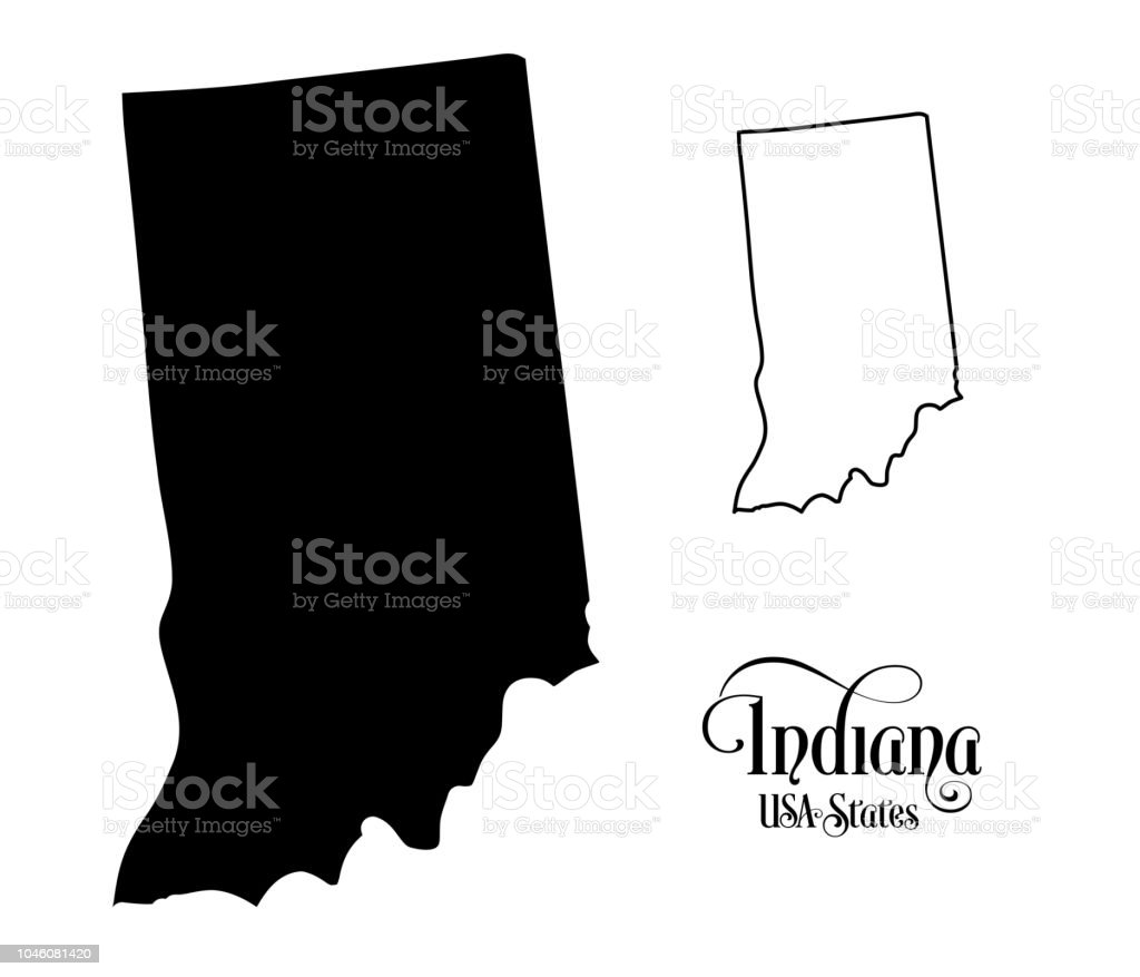 Map Of The United States Of America State Of Indiana ...