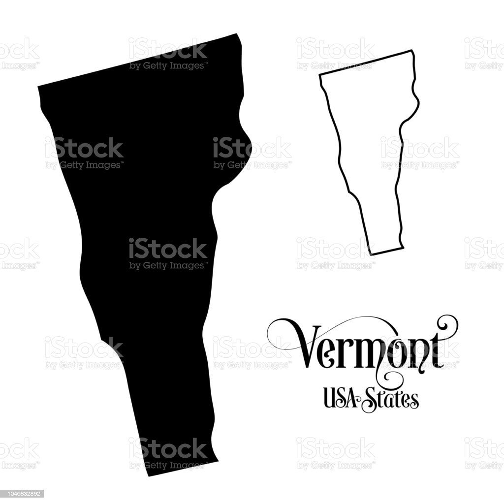 Map Of America Vermont.Map Of The United States Of America State Of Vermont Illustration On