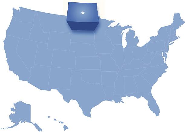 North Dakota Clip Art Vector Images Illustrations IStock - North dakota on the us map