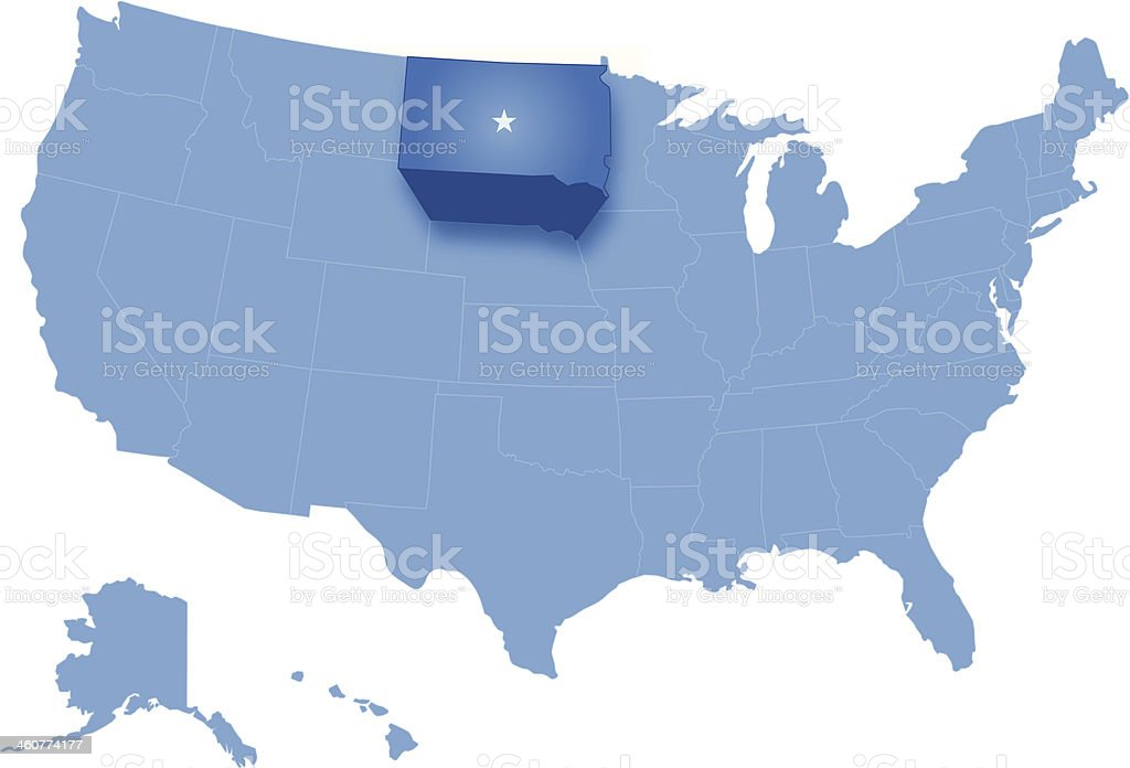 Map of the United States where South Dakota pulled out royalty-free map of the united states where south dakota pulled out stock vector art & more images of blue