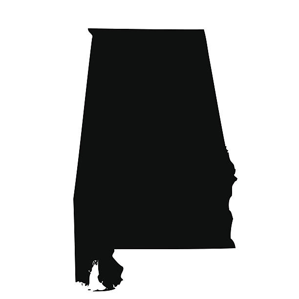 map of the u.s. state alabama - alabama stock illustrations