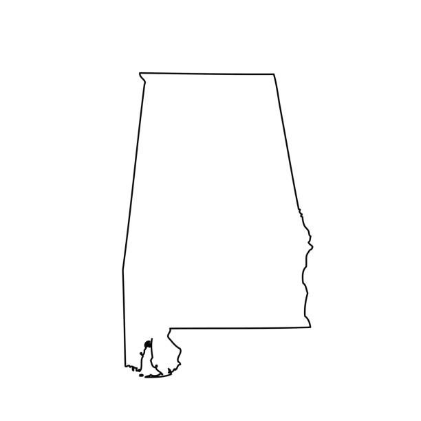 map of the u.s. state alabama - alabama stock illustrations