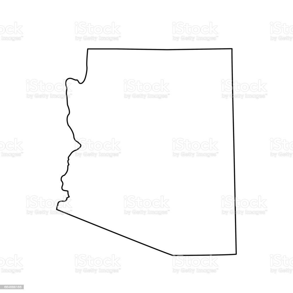 Map Of The Us State Arizona Stock Vector Art IStock - Arizona on the us map