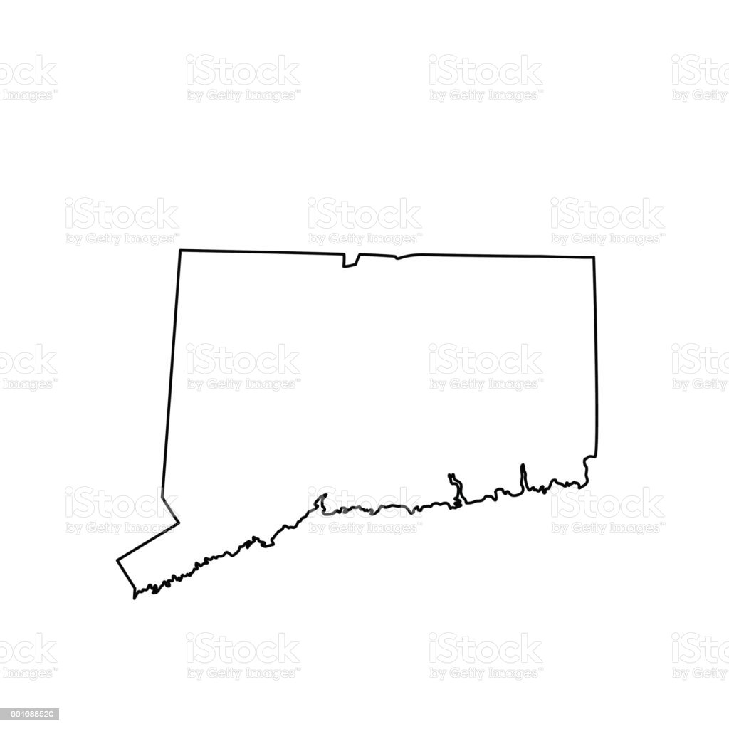 Map Of The Us State Connecticut Stock Vector Art More Images of
