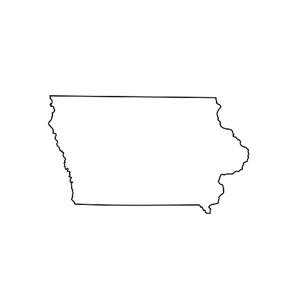 s in iowa map Map Of The Us State Iowa Stock Illustration Download Image Now s in iowa map
