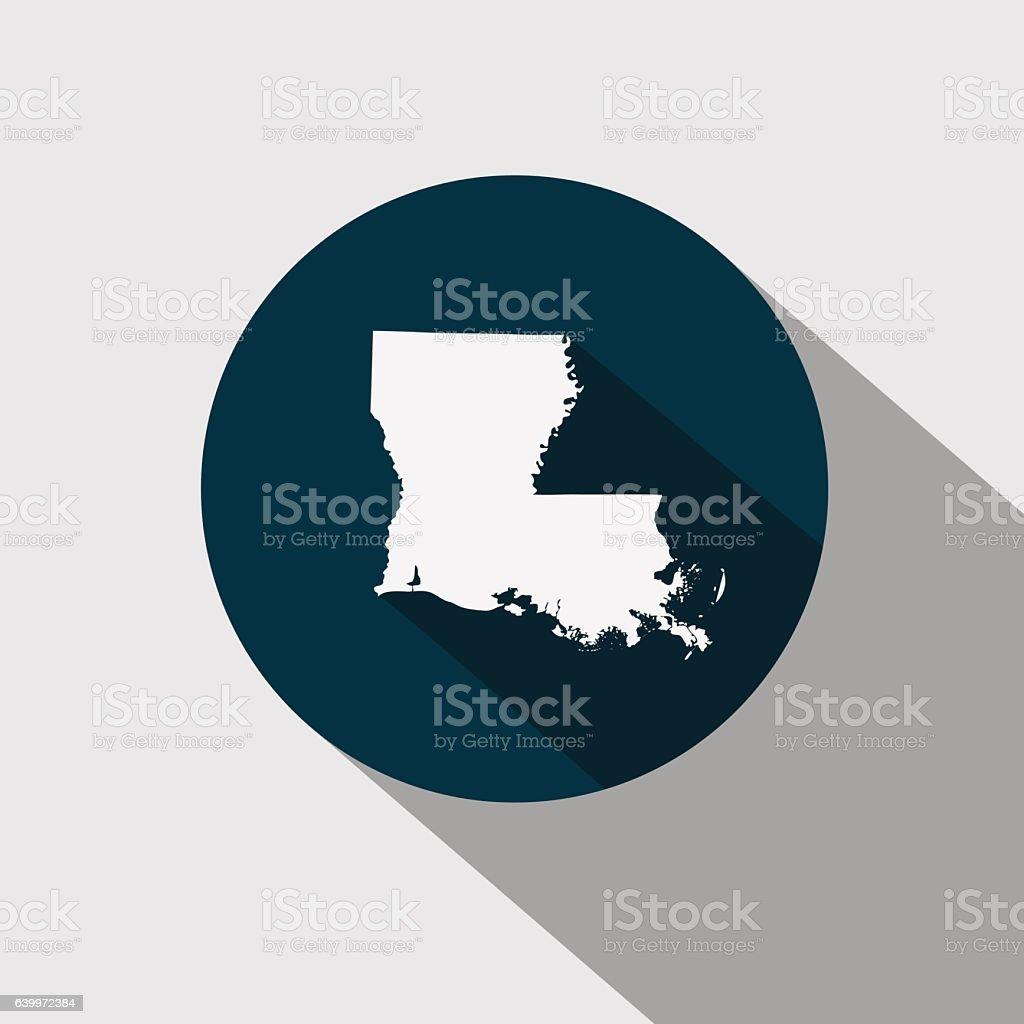 map of the U.S. state Louisiana vector art illustration