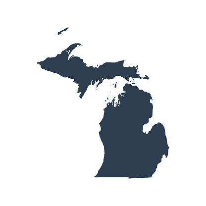 map of the U.S. state  Michigan