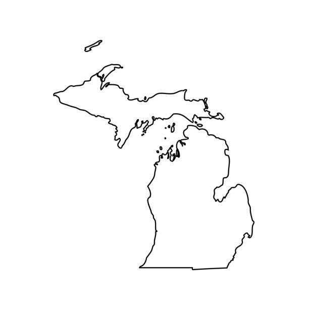 Best Michigan Illustrations, Royalty-Free Vector Graphics