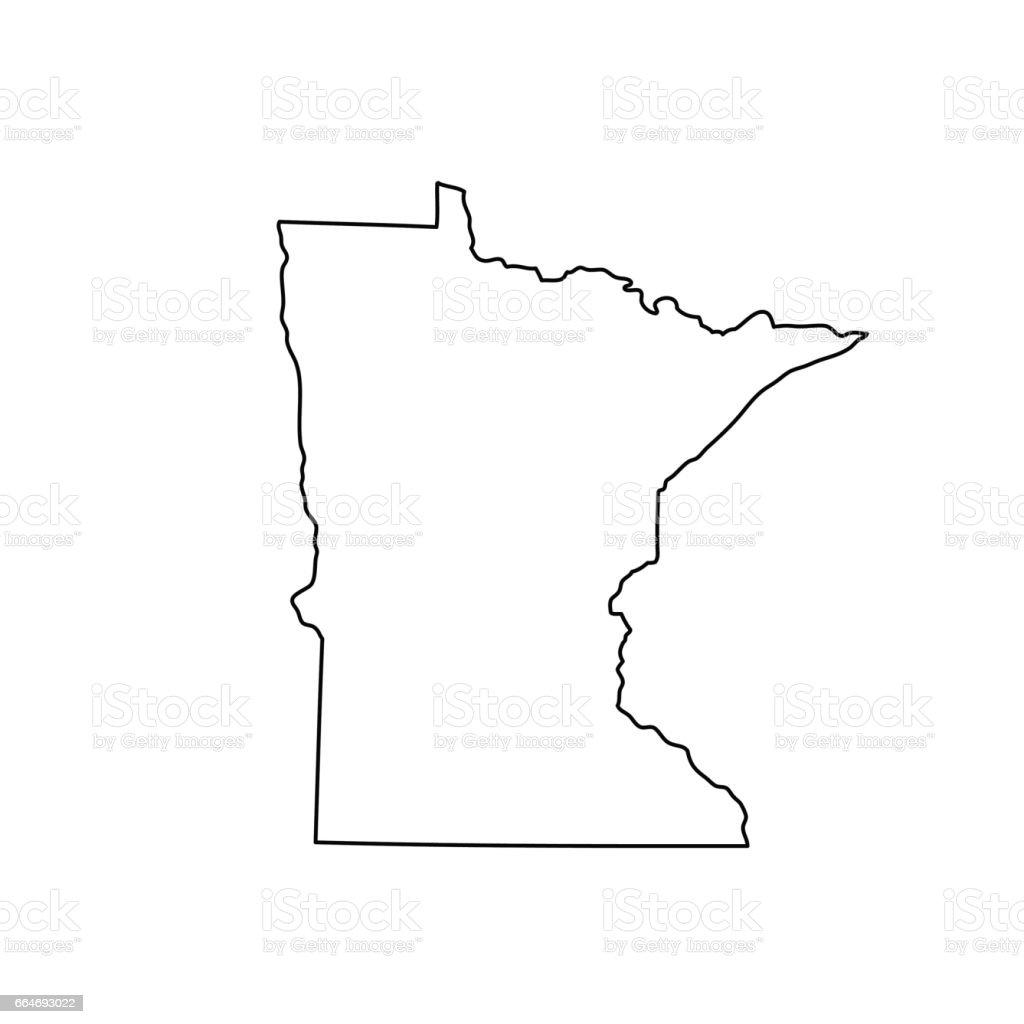 Carte de l'état du Minnesota - Illustration vectorielle