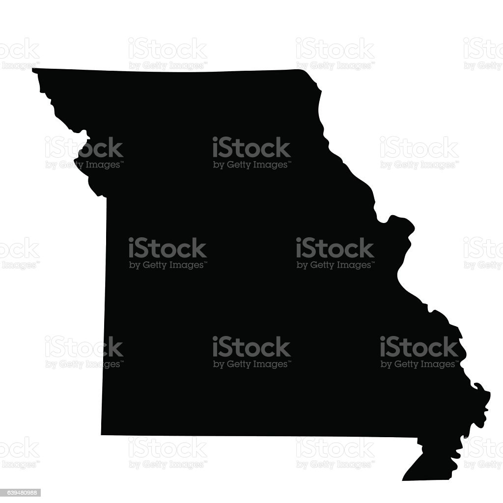 Map Of The Us State Missouri Stock Vector Art IStock - Us vector map