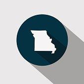 Map of the U.S. state Missouri