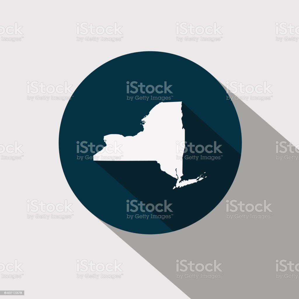 Map of the U.S. state New York vector art illustration
