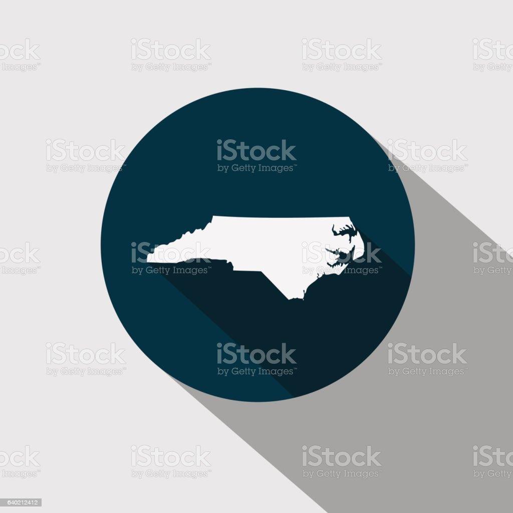 map of the U.S. state North Carolina vector art illustration