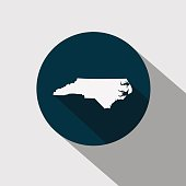 map of the U.S. state North Carolina