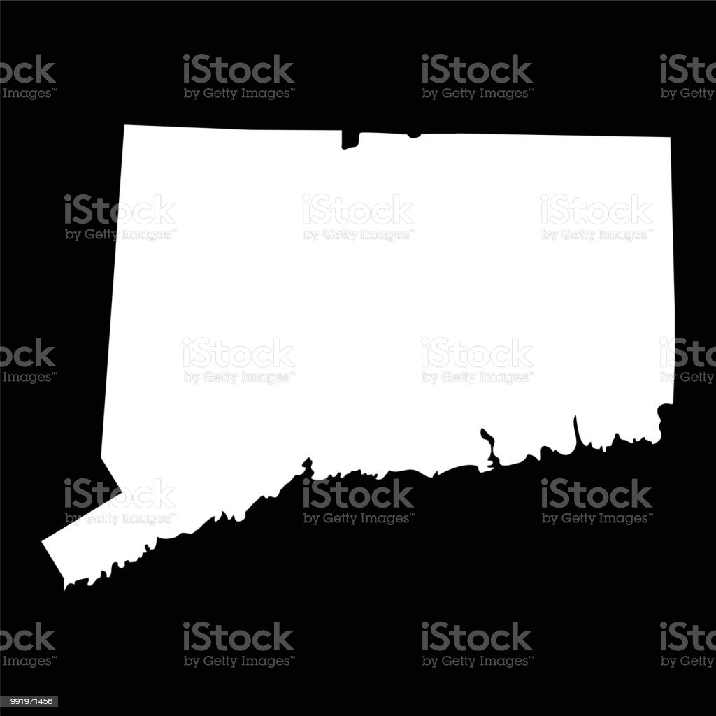 Map Of The Us State Of Connecticut Stock Vector Art & More Images of ...