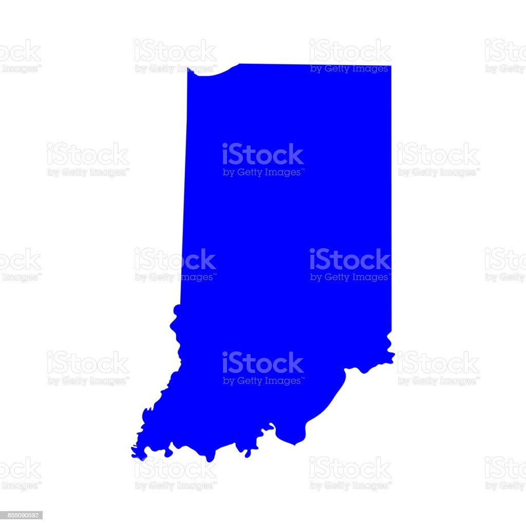 Map Of The Us State Of Indiana Stock Vector Art IStock - Indiana on the us map