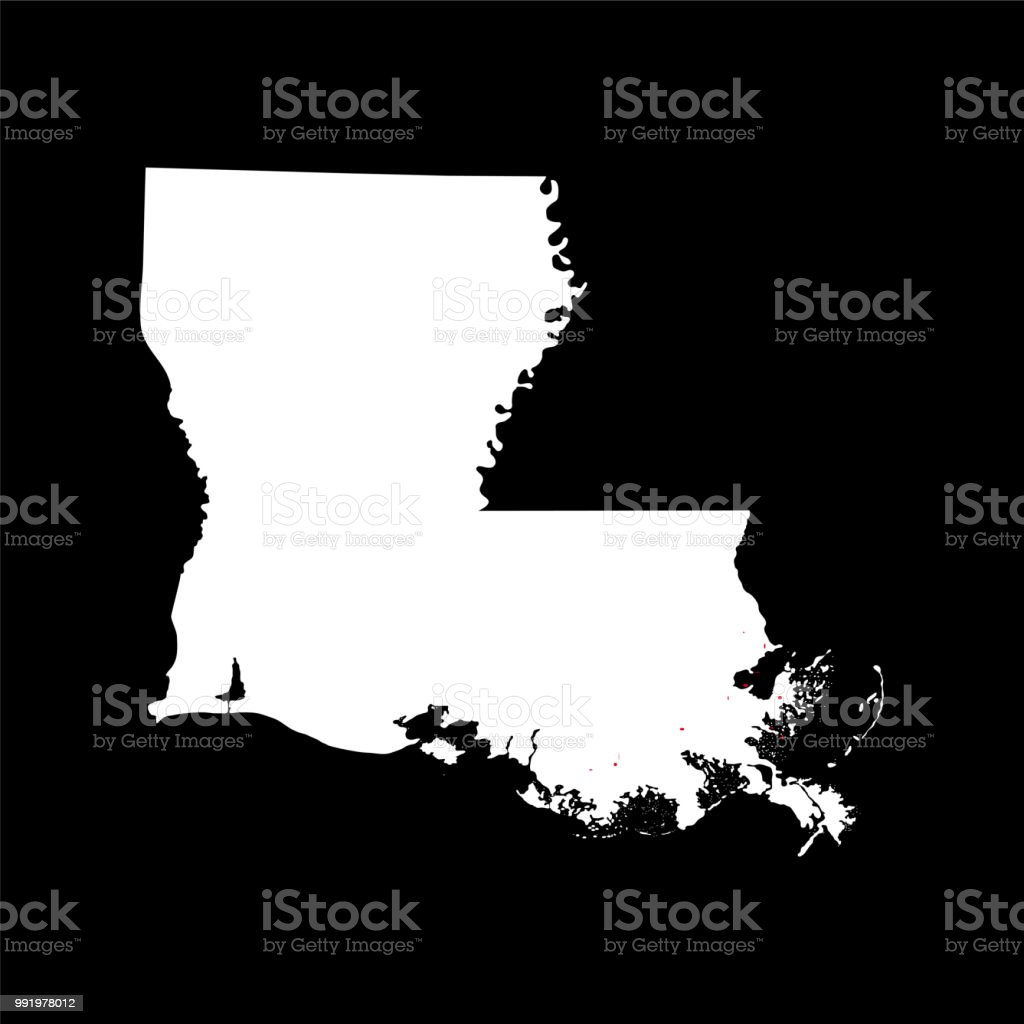 Map Of The Us State Of Louisiana Stock Vector Art More Images Of