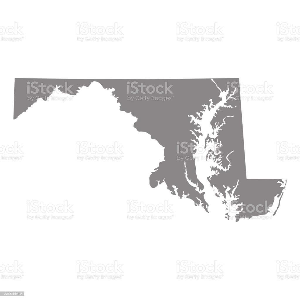 Map Of The Us State Of Maryland stock vector art 839944212 iStock