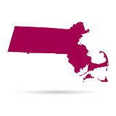 Map of the U.S. state of Massachusetts on a white background