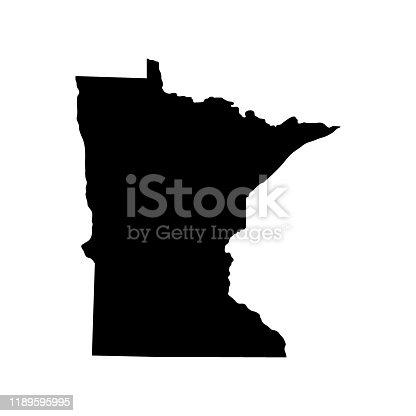 istock map of the U.S. state of Minnesota 1189595995