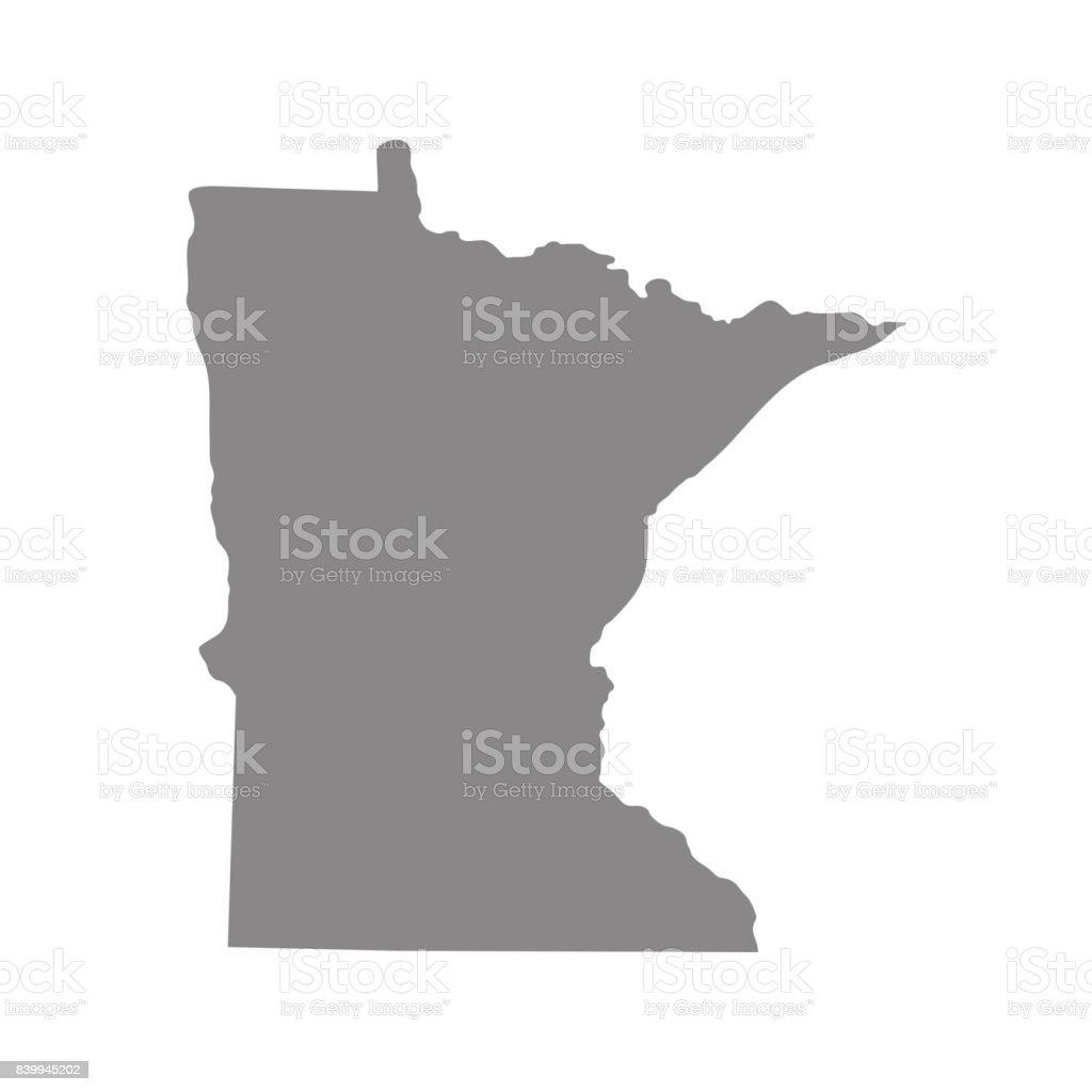 map of the U.S. state of Minnesota vector art illustration