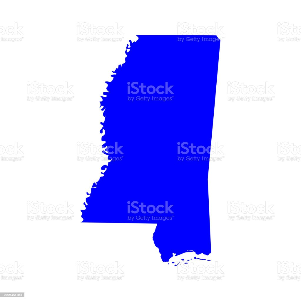 Map Of The Us State Of Mississippi Stock Vector Art IStock - Us map of mississippi