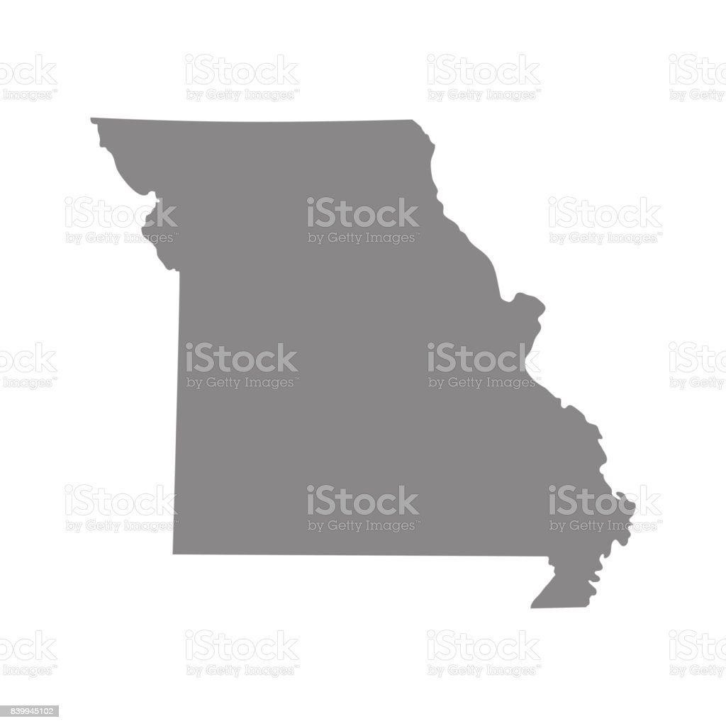 Map Of The Us State Of Missouri Vector Illustration Stock Vector - Us vector map