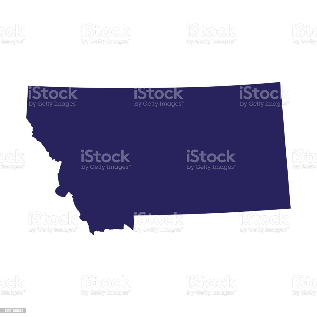 Map Of The Us State Of Montana Stock Vector Art More Images Of