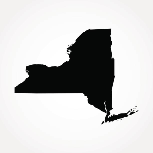 illustrations, cliparts, dessins animés et icônes de carte des états-unis état de new york - new york