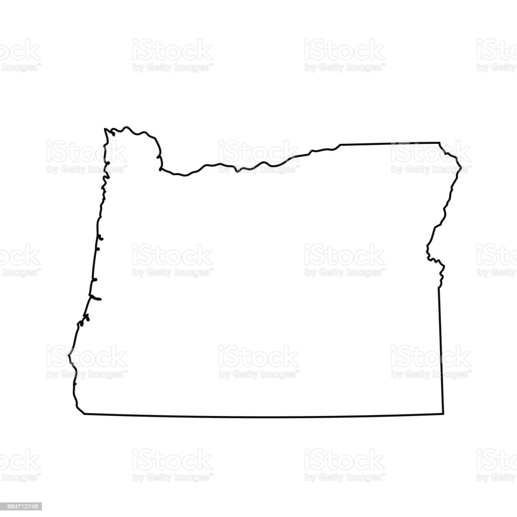 Map Of The Us State Of Oregon Stock Vector Art IStock - Us state map