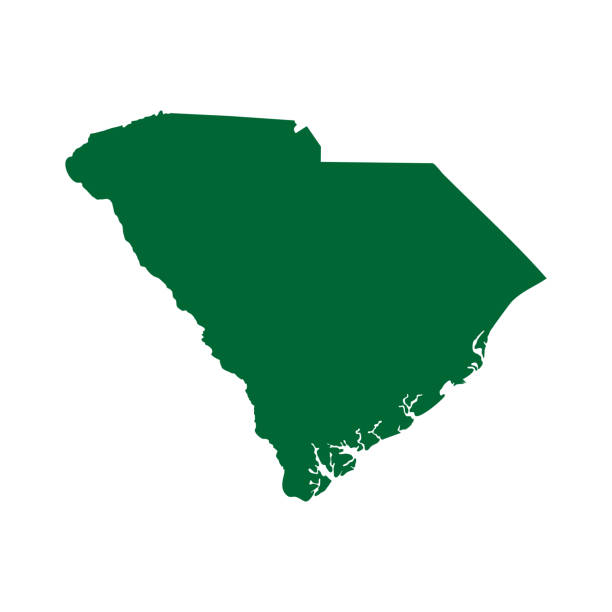 map of the U.S. state of South Carolina map of the U.S. state of South Carolina south carolina stock illustrations