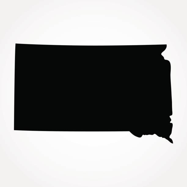 South Dakota Map Clip Art Vector Images Illustrations IStock - South dakota us map