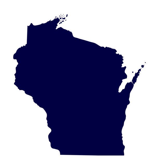 map of the U.S. state of Wisconsin map of the U.S. state of Wisconsin wisconsin stock illustrations