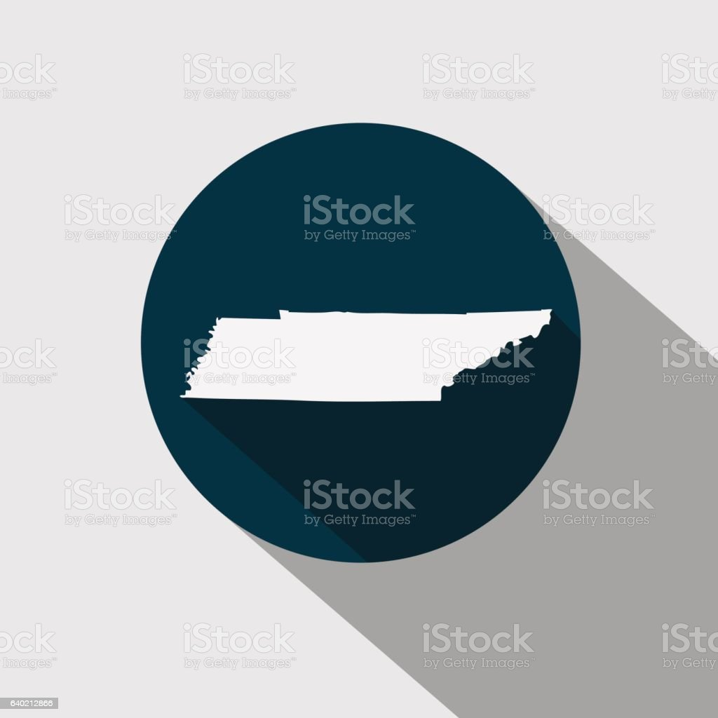 Map of the U.S. state Tennessee vector art illustration